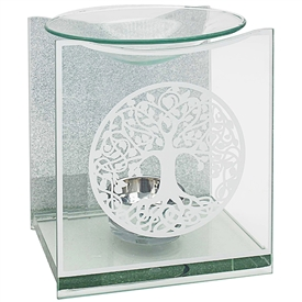 Silver Tree Of Life Oil Burner 14cm