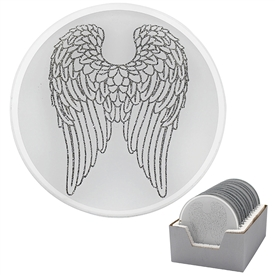 Angel Wing Candle Plate 10cm