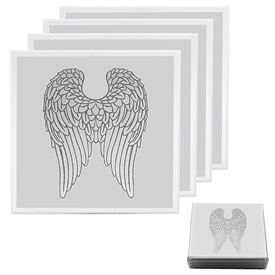 Set Of 4 Angel Wing Coasters