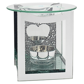 Multi Crystal Heart Oil Burner