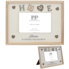Sentiments Frame Home 25cm