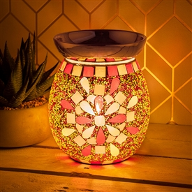 Mosaic Desire Aroma Lamp � Red And Yellow