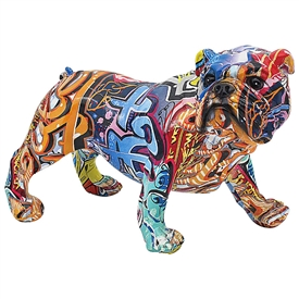 Graffiti Bulldog Ornament