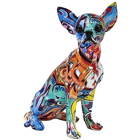 Graffiti Chihuahua Ornament