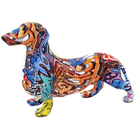 Graffiti Dachshund Ornament