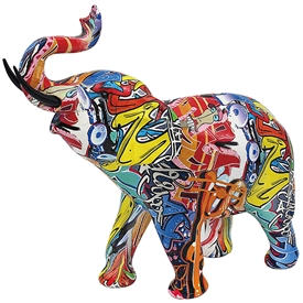 Graffiti Elephant Ornament