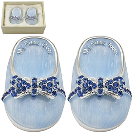 Blue Shoe Tooth And & Curl Keepsake