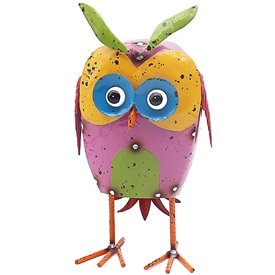 Bright Eyes Metal Owl Ornament