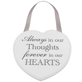 Heart Plaque Always Forever 18cm