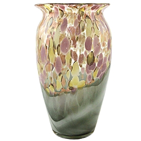 Pink And Gold Spotted Vase 24cm