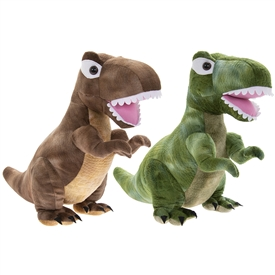 Plush Dinosaur Doorstop 2 Assorted