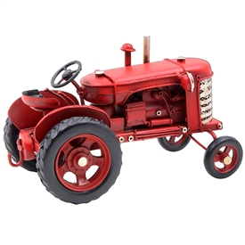 Vintage Red Tractor 17cm