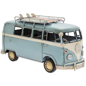 Vintage Blue VW Campervan