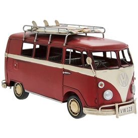 Vintage Red VW Campervan