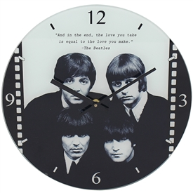 Round Beatles Clock