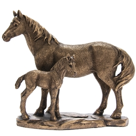 Bronzed Horse And Foal