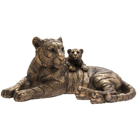 Bronzed Tiger With Cub