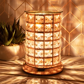 Crystal Touch Sensitive Aroma Lamp Rose Gold