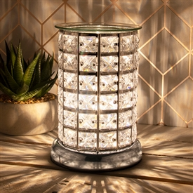Crystal Touch Sensitive Aroma Lamp Silver