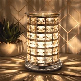 Crystal Touch Sensitive Aroma Lamp Silver 7 Amber
