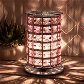 Crystal Touch Sensitive Aroma Lamp Silver & Pink