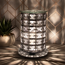 Crystal Touch Sensitive Aroma Lamp Silver & Black