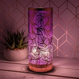 Leaf Touch Sensitive Aroma Lamp � Purple And Rose Gold 26cm