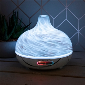 Desire Humidifier With Bluetooth Speaker � White And Gold Marble