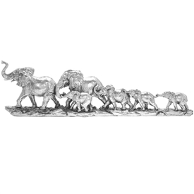 Silver Art Elephant Train