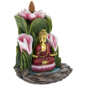 Buddha In Prayer Backflow Incense Burner