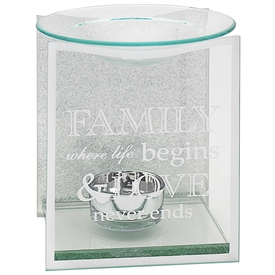 Silver Glitter Family Sentiments Oil Burner