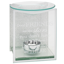 Silver Glitter Friend Sentiments Oil Burner
