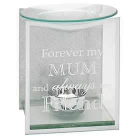 Silver Glitter Mum Sentiments Oil Burner