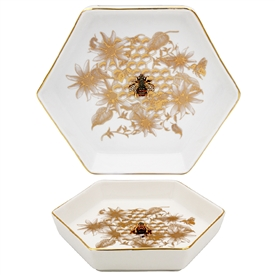 Honeycomb Bee Trinket Dish