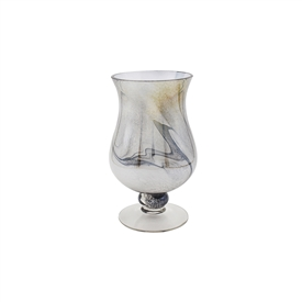 Grey Marble Candle Holder 25cm