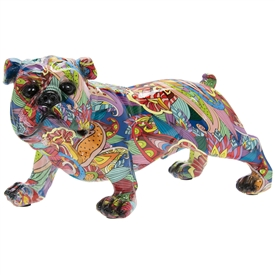 Groovy Art Bulldog Ornament