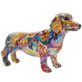 Groovy Art Dachshund Ornament