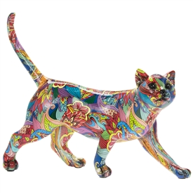 Groovy Art Walking Cat Ornament