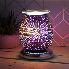 DUE FEBRUARY Touch Sensitive Round Aroma Lamp - Purple Firework