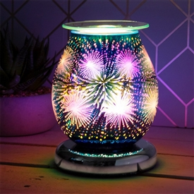 DUE OCTOBER Touch Sensitive Round Aroma Lamp - Purple Starburst
