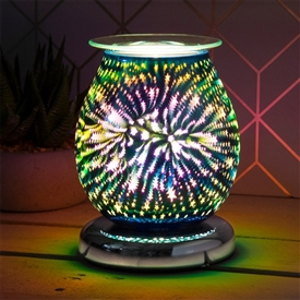 DUE OCTOBER Touch Sensitive Round Aroma Lamp - Iridescent Starburst