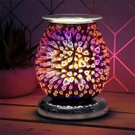 DUE OCTOBER Touch Sensitive Round Aroma Lamp - Purple Hearts