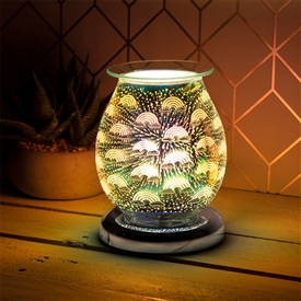 Touch Sensitive Round Aroma Lamp - Rainbow