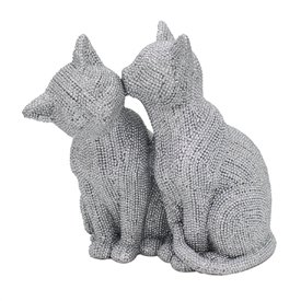 Silver Arts Cats Kissing