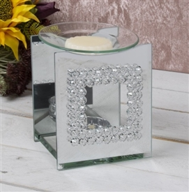 Mirror Crystal Oil Burner Square