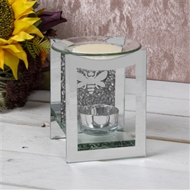 Mirror Crystal Oil Burner Bee