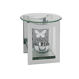 Mirror Crystal Oil Burner Butterfly