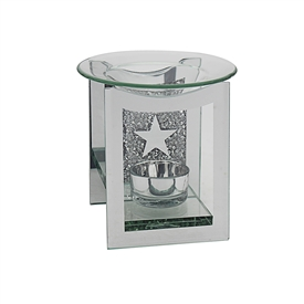 Mirror Crystal Oil Burner Star