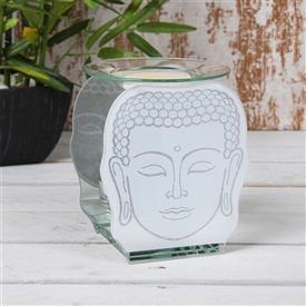Buddha Head Glass Oil Burner