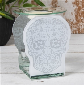 Skull Glass Oil Burner